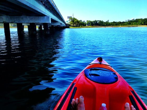Kayak Tour near Emerald Isle Bridge