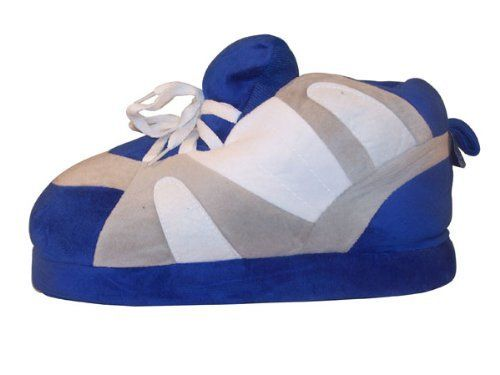 Happy Feet - Blue, Gray and White - Slippers Happy Feet. $24.99