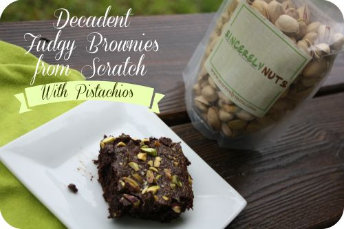 Decadent Fudgy Brownies with Pistachios