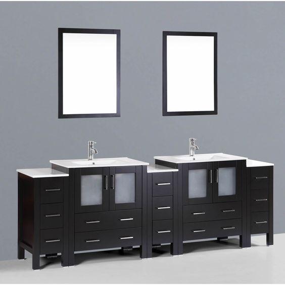 Bosconi AB230U3S 96-inch Double Vanity