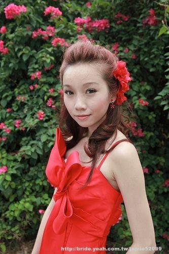 Bridal Hairstyle Amp Red Wedding Dress 新娘妝髮造型 Yeah!新娘秘書網 紅色禮服 C02紅色禮服 Pinterest Red Wedding