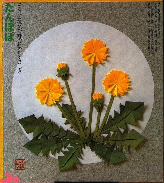 origami dandelion: