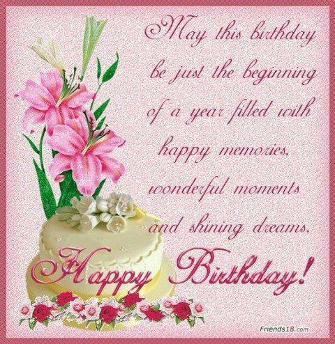 Lovely birthday greeting: