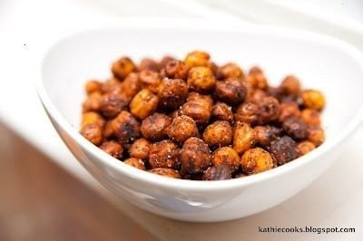 roasted chickpeas - chili, lime and cilantro and honey roasted with cinnamon