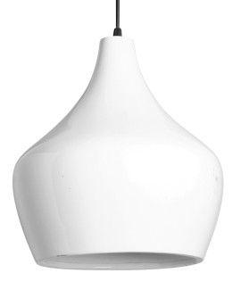 Luminária Branca Pendente 36,5×29,5 cm