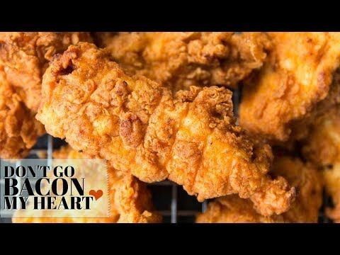 These Spicy Chicken Tenders Are Ridiculously Delicious Chicken Strips Marinated In Buttermilk Spicy Fried Chicken Fried Chicken Tenders Chicken Tender Recipes