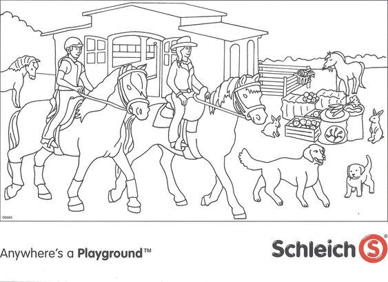 Schleich Paarden Kleurplaat Jpg 2141 215 1555 Kleurplaten
