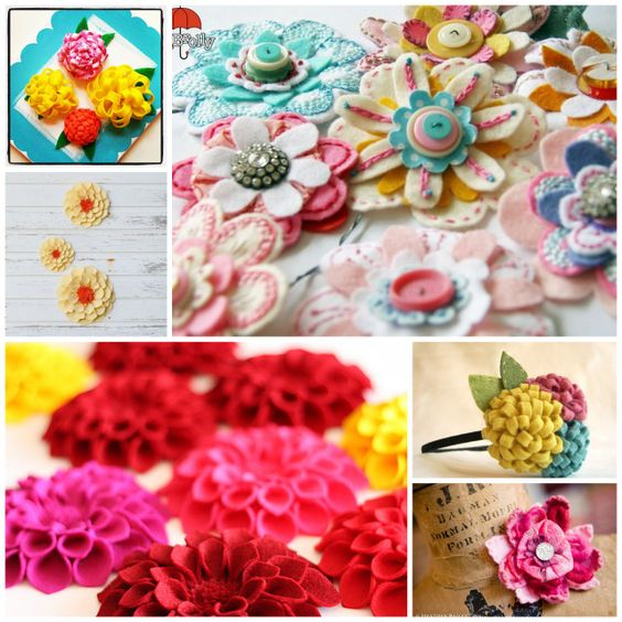 Round-Up: 12 Felt Flowers to Inspire - A Sewing Journal - A Sewing Journal