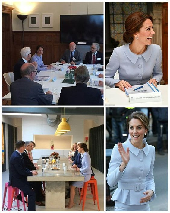 After visiting the Mauritshuis Exhibition, The Duchess visited the British Ambassador's Residence in The Hague, where she convened a roundtable discussion on the themes of addiction, intervention, family and mental health. The discussion brought together professionals from the renowned Trimbos Institute in the Netherlands, with two UK charities of which the Duchess is Patron: Anna Freud Centre for Children and Families and Action on Addiction. (Top two pics) Finally, Kate travelled to the…
