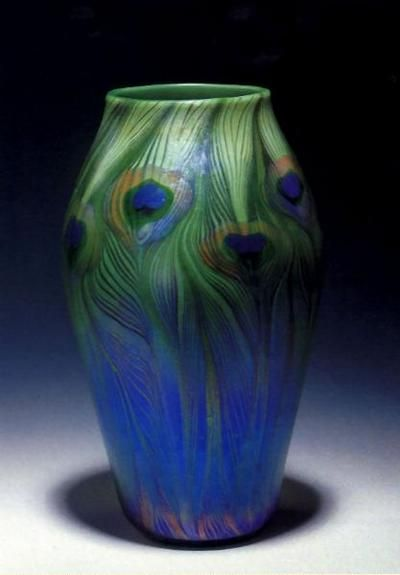 Louis Comfort Tiffany, Peacock Vase