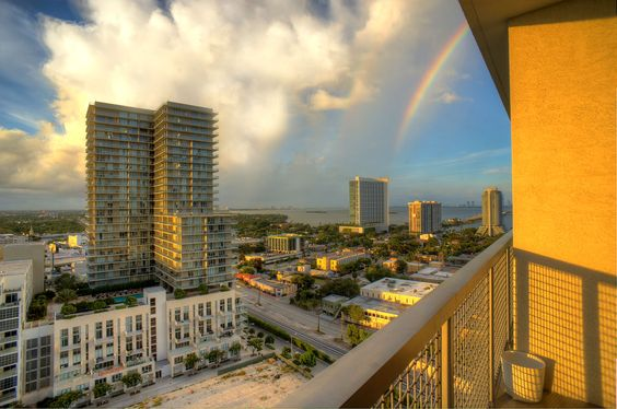Midtown Miami rainbow! What a nice way to end the day
