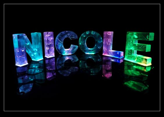 The Name Emily In Neon Bubble Letters