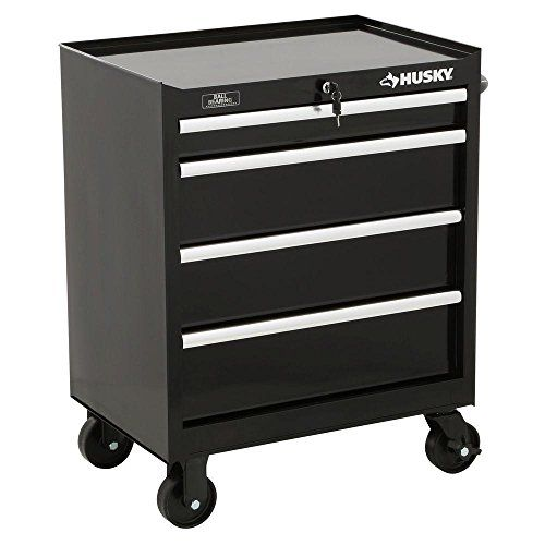 Husky 27 In W 4 Drawer Tool Cabinet Black Tool Cabinet Tool Storage Tool Cabinets Chests