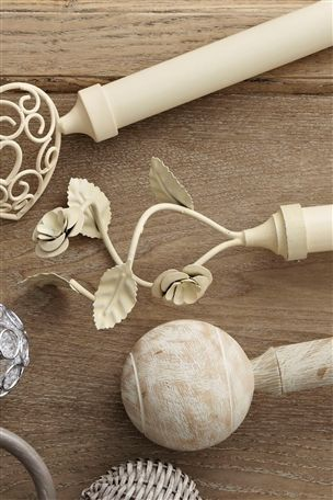 Buy Vintage Floral Twist 19mm Extendable Curtain Pole Kit from the ...