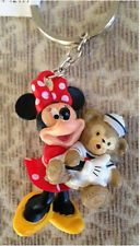 Disney Park Fun Minnie Mouse with Duffy Bear PVC Figurine Keychain NEW SOLD OUT