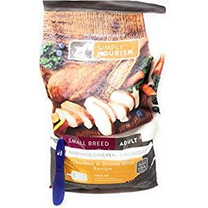 Simply Nourish Small Breed Adult Dry Dog Food Chicken Brown Rice