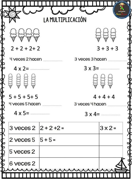 Aprendemos a multiplicar de forma divertida