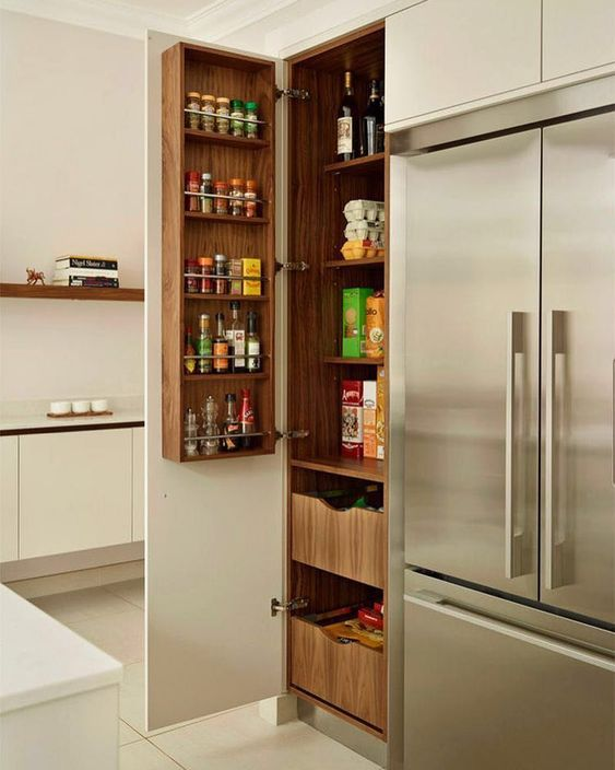 Adorei essa ideia para dispensa na cozinha.  Pinterest:  http://ift.tt/1Yn40ab http://ift.tt/1oztIs0 |Imagem não autoral|