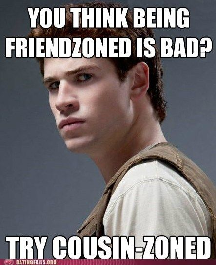 poor gale.: Hunger Games 3, Team Gale, Team Peeta, Cousin Zoned, Hungergames, Poor Gale, Hunger Games Humor, The Hunger Game