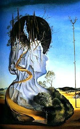 Previous Pinner- Salvador Dali - I really like how the artist manages to depict the ever lasting change of the earth through designing a painting of a mountain/cliff with the structure of a human face. He does this to reference how much humans have changed and redesigned the world we live in to suit our ways of life.