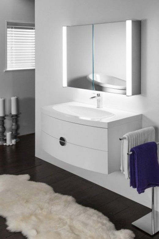 Aura 401 LED bathroom cabinet with ambient under lighting