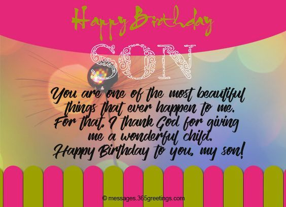 Happy Birthday Wishes For Son With Images Birthday Wishes For