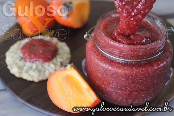 Receita de Geleia de Caqui com Frutas Vermelhas