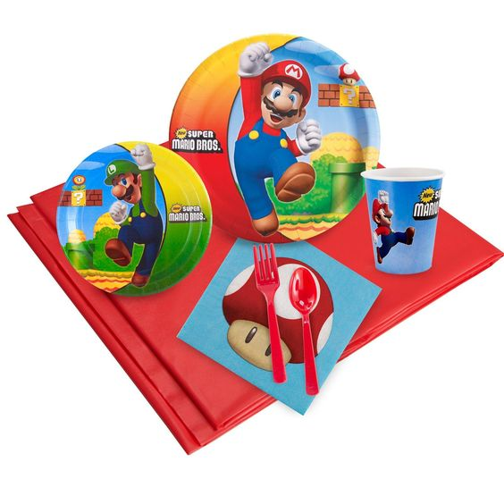 Super Mario Bros. Just Because Party Packs for 8 - Birthday Express