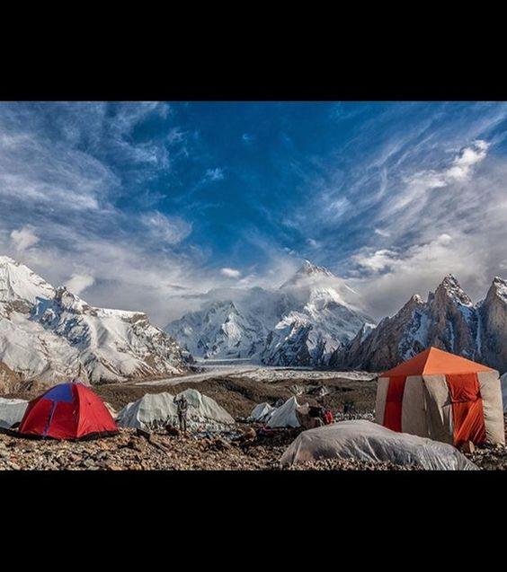 Le Masherbrum, un sommet pakistanais faisant partie du Gasherbrum situé dans le Karakoram