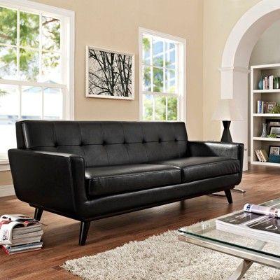 Ghế sofa da thật tphcm đơn giản, đẹp cho phòng khách nhỏ