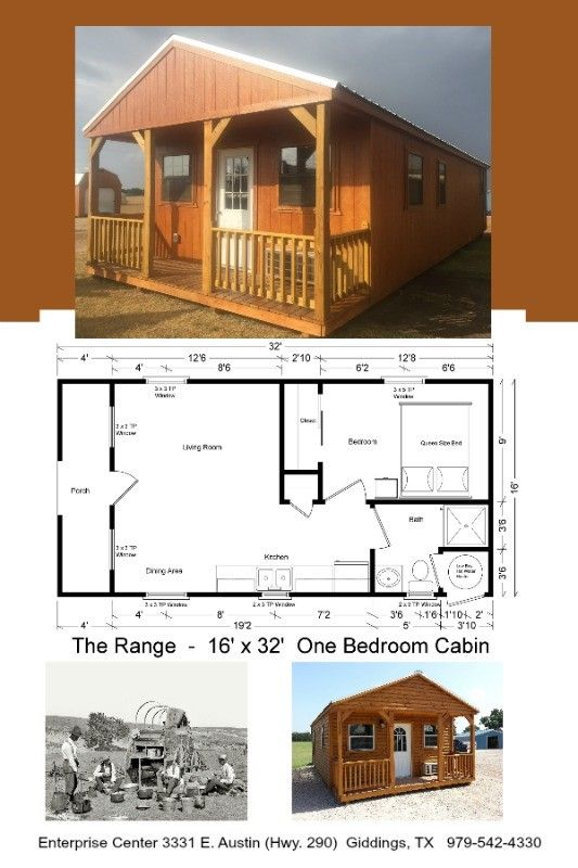 16 X 32 One Bedroom Cabin 512 Sq Ft Includes All Appliances And You Can Customize All Finishes Cabin Portable Buildings Portable Cabins