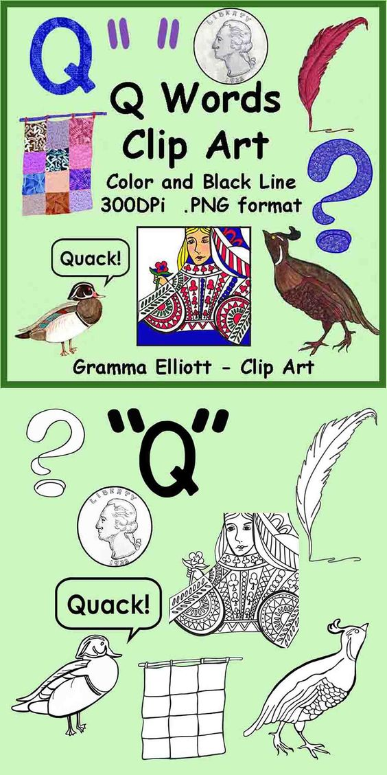four letter q words quails quilt and question on 21808