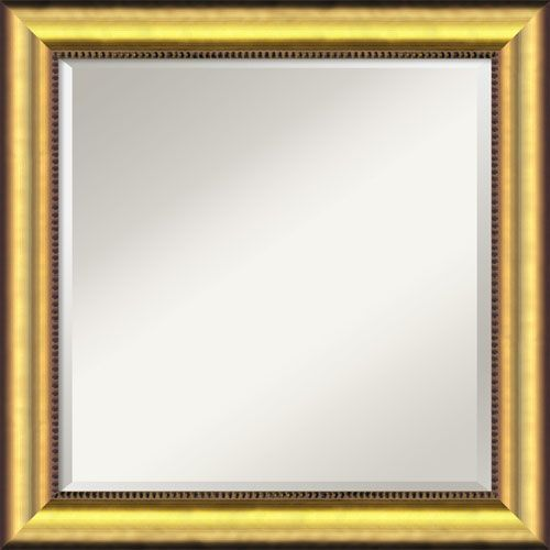 Vegas Burnished Gold Wall Mirror Square Gold Mirror Wall Modern Mirror Wall Rustic Wall Mirrors