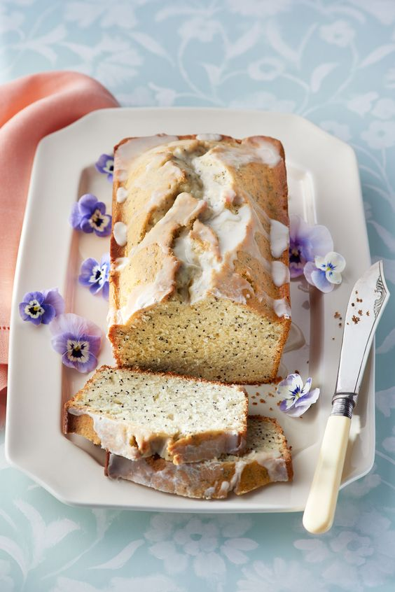 Almond and Poppy Seed Loaf Cake perfect to serve with tea or at your ...