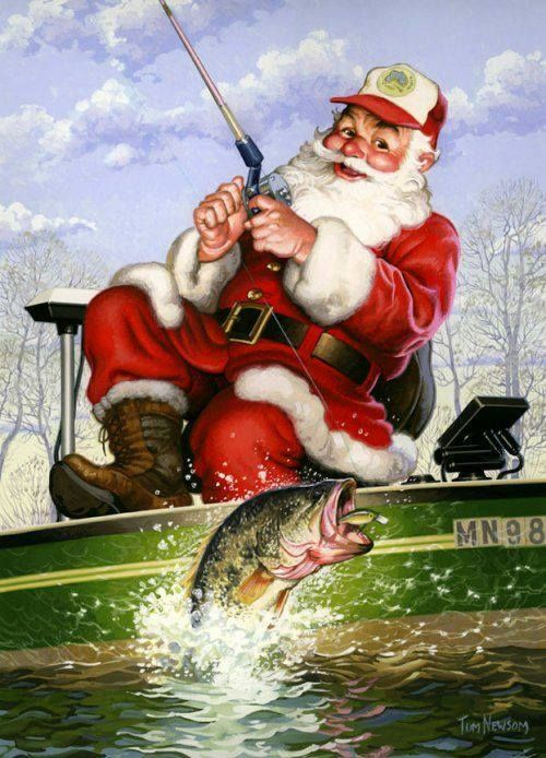 Image result for Santa fishing