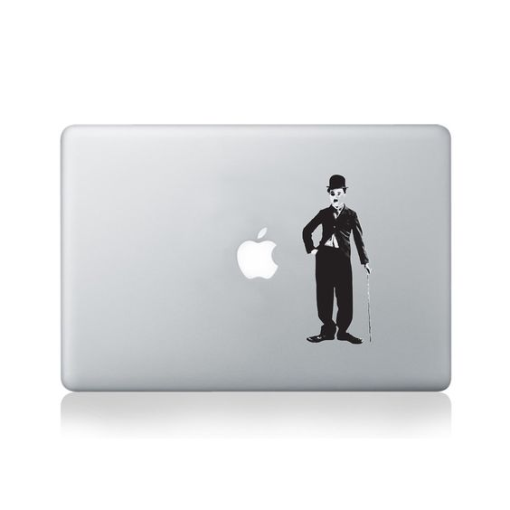 Charlie Chaplin Holding Cane Macbook Sticker#design #macbook #macbookstickers #pimpmymacbook #decals #stickers #vinyl #DIY #laptop #charliechaplin #cane