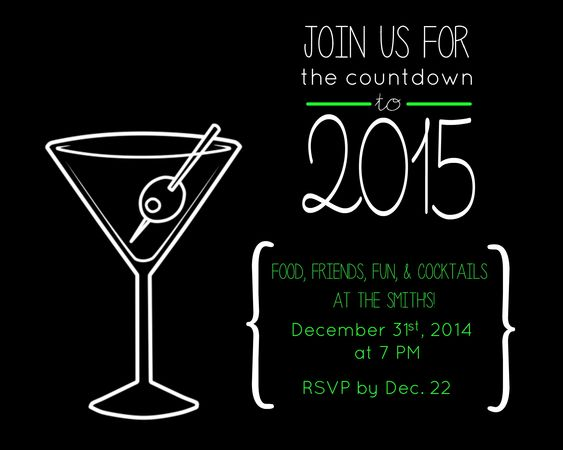 free new years eve party invitation – Free New Years Eve Party Invitations
