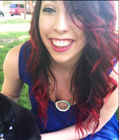 Red Ombre Hair Brown To Red Just Tried Manic Panic Was