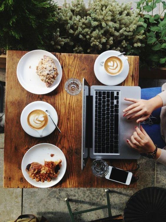 trabalho + café: