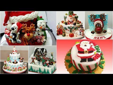 Como Decorar Una Torta Para Navidad Fácil Con Crema Chantilly Youtube