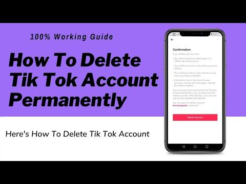 How To Delete Tik Tok Account Permanently Quick Easy Youtube Tok Tik Tok Easy Youtube