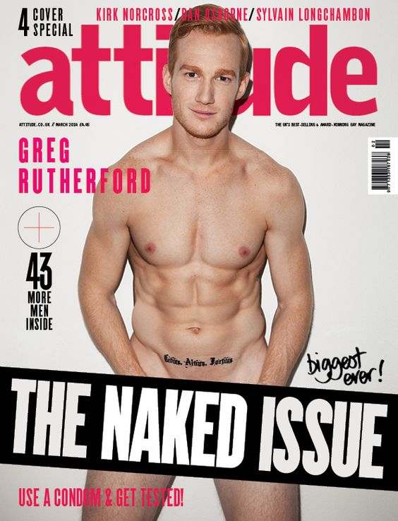 OH, AND THIS MAGAZINE COVER HAPPENED.   Proof That Greg Rutherford Is Officially The Hottest Ginger To Ever Exist