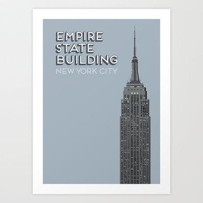 Empire State Building Art Print by Brett Porter Design - $22.88