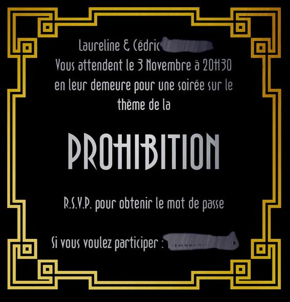 invitation soir e prohibition art d co g om trie pinterest invitations. Black Bedroom Furniture Sets. Home Design Ideas