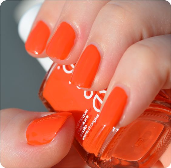 Essie - Roarrrrange (Summer 2014)- good color for game day nails