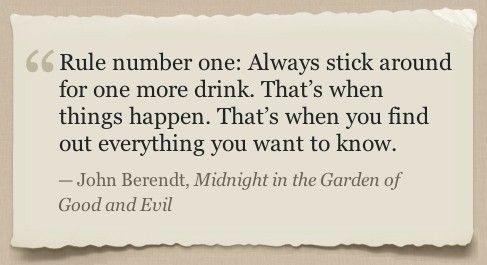 John Berendt's Midnight in the Garden of Good and Evil