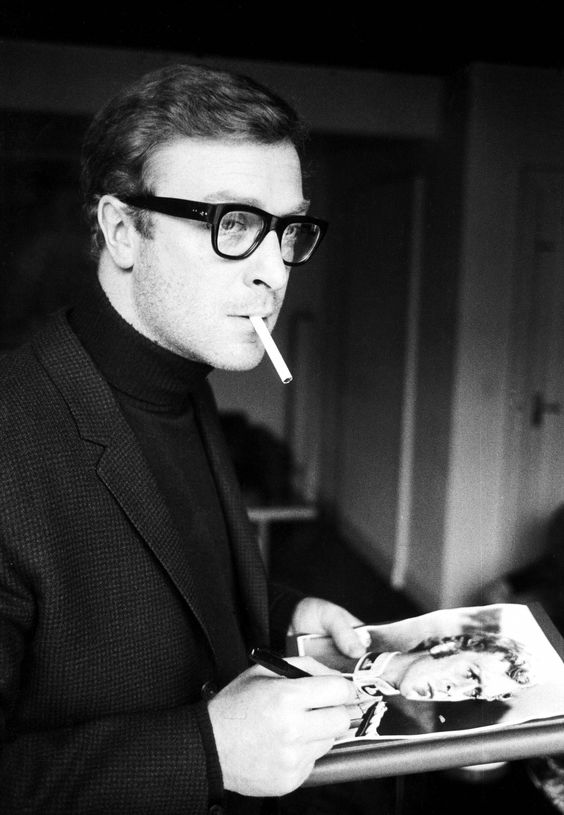The Roll Neck And Jacket Crowd. Michael Caine.