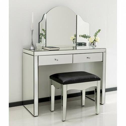 Mirrored Dressing Table Vanity Dresser, Mirrored Dressing Table Set Next