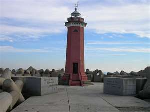 San Niccolo lighthouse in Venice Italy