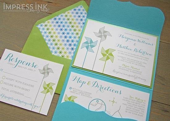 Partecipazioni con girandole. Wedding invitations with pinwheel. #wedding